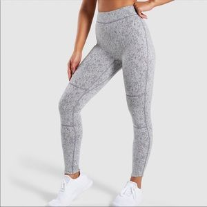 Gymshark fleur XS light gray leggings